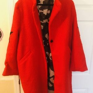 Red camo lines jacket
